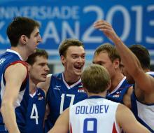 Российские волейболисты одержали пятую победу на Универсиаде 2013