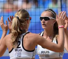 Российские пляжницы стали лучшими на Универсиаде 2013