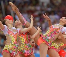 В групповом многоборье российские гимнастки взяли «золото»