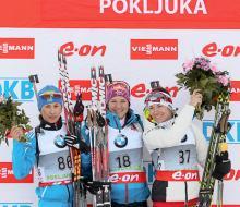Дебютантка сборной России по биатлону Виролайнен стала второй в Поклюке