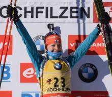Макарайнен победила в спринте в Хохфильцене