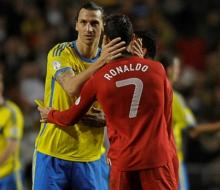 Роналду считает Ибрагимовича лучшим на сегодняшний день