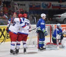 Россия обыграла Словению на ЧМ-2015 по хоккею