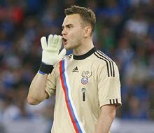 Акинфеев: «Надо выиграть два матча и спокойно поехать во Францию»