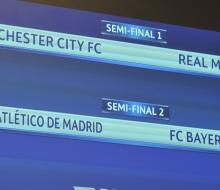 «Атлетико» сыграет с «Баварией», а «Реал» с «МС» в 1/2 финала ЛЧ