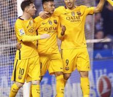 «Барселона» в гостях разгромила «Депортиво»