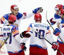 Россия обыграла Казахстан и одержала первую победу на ЧМ-2016