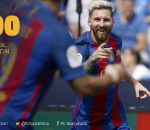 Месси забил 500-й мяч за «Барселону»