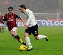 Хонда забил первый гол за «Милан»