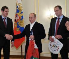 Путин встретился со сборной России по хоккею