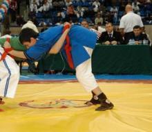 На чемпионате по борьбе на поясах команда Поволжской академии оказалась второй