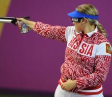 В командной стрельбе из пневматического пистолета с 10 м россиянки стали первыми
