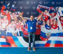 Глеб Гальперин посетил Дом болельщиков команды России в Казани