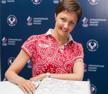 Анастасия Давыдова посетила Дом Болельщиков в Казани