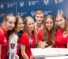 Дом Болельщиков в Казани посетила Команда России по синхронному плаванию