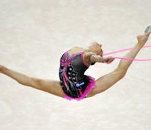 В Нижнекамске выступили гимнастки