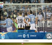 «Удинезе» в гостях обыграл «Лацио» и поднялся на третье место в Серии А