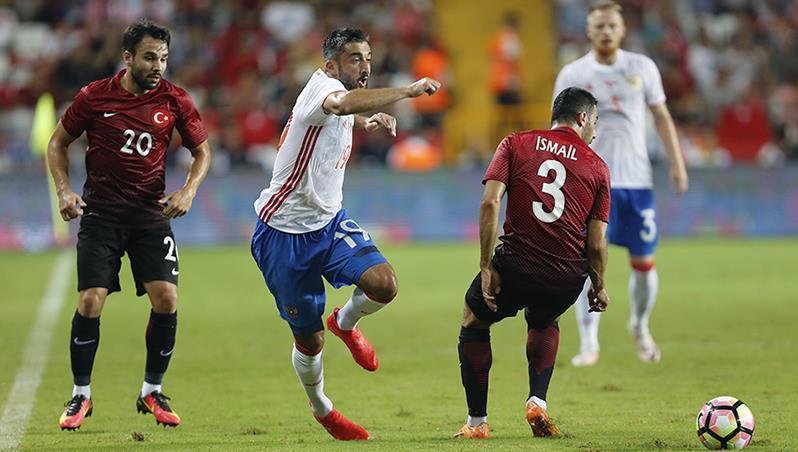 Сборная Российской Федерации несмогла переиграть команду Турции втоварищеском матче